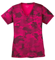 Custom Ladies CamoHex V-Neck Tee