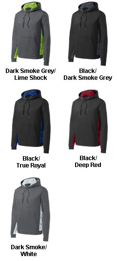Adult CamoHex Fleece Colorblocked Hooded Pullover - All Colors