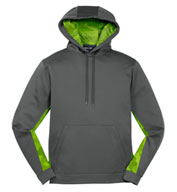 Custom Adult CamoHex Fleece Colorblocked Hooded Pullover