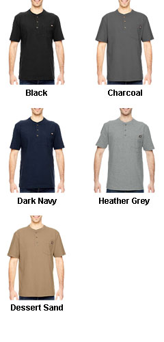 Dickies Heavyweight Work Henley - All Colors