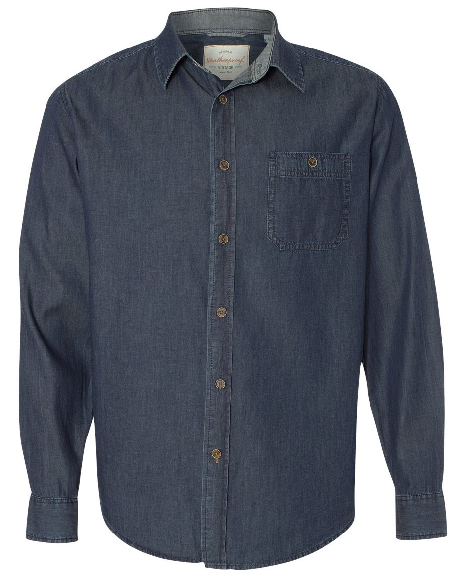 Weatherproof® Vintage Mens Denim Long Sleeve Shirt