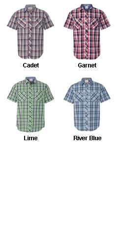 Weatherproof® Vintage Plaid Short Sleeve Shirt - All Colors