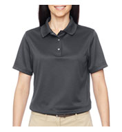 Custom Harriton Ladies Advantage Snap Placket Performance Polo