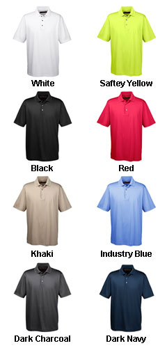 Mens Advantage Snap Placket Performance Polo - All Colors
