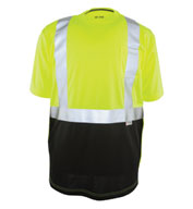 Custom Game Sportswear Adult Black Bottom ANSI II Hi-Vis Tee