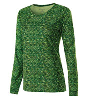 Ladies Long Sleeve Space Dye Shirt