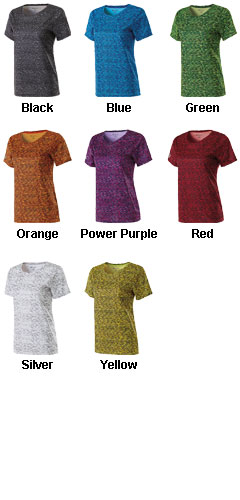 Ladies Short Sleeve Space Dye Shirt - All Colors