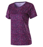 Ladies Short Sleeve Space Dye Shirt