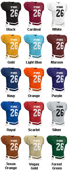 Fire Football Jersey - All Colors
