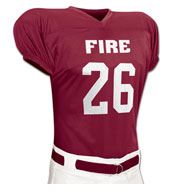 Custom Fire Football Jersey