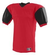 Red Zone Football Jersey with Contrast Sleeves
