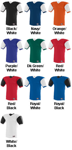 Youth Red Zone Football Jersey with Contrast Sleeves - All Colors