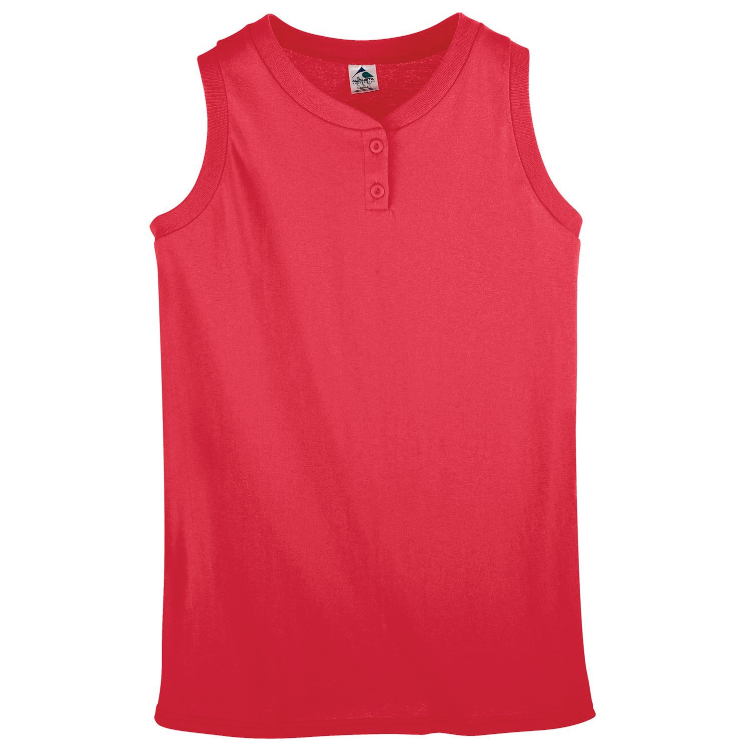 Augusta Ladies Sleeveless Two-Button Softball Jersey