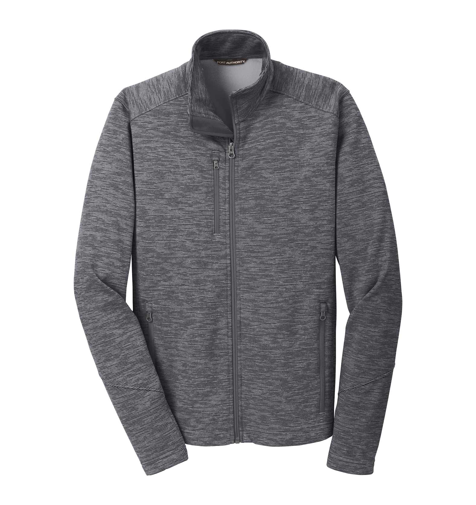 Port Authority® Mens Digi Stripe Fleece Jacket