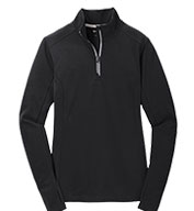 Custom Ladies Sport-Wick® Textured 1/4 Zip Pullover