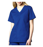 Custom WonderWink® WonderWORK Womens V-Neck Scrub Top
