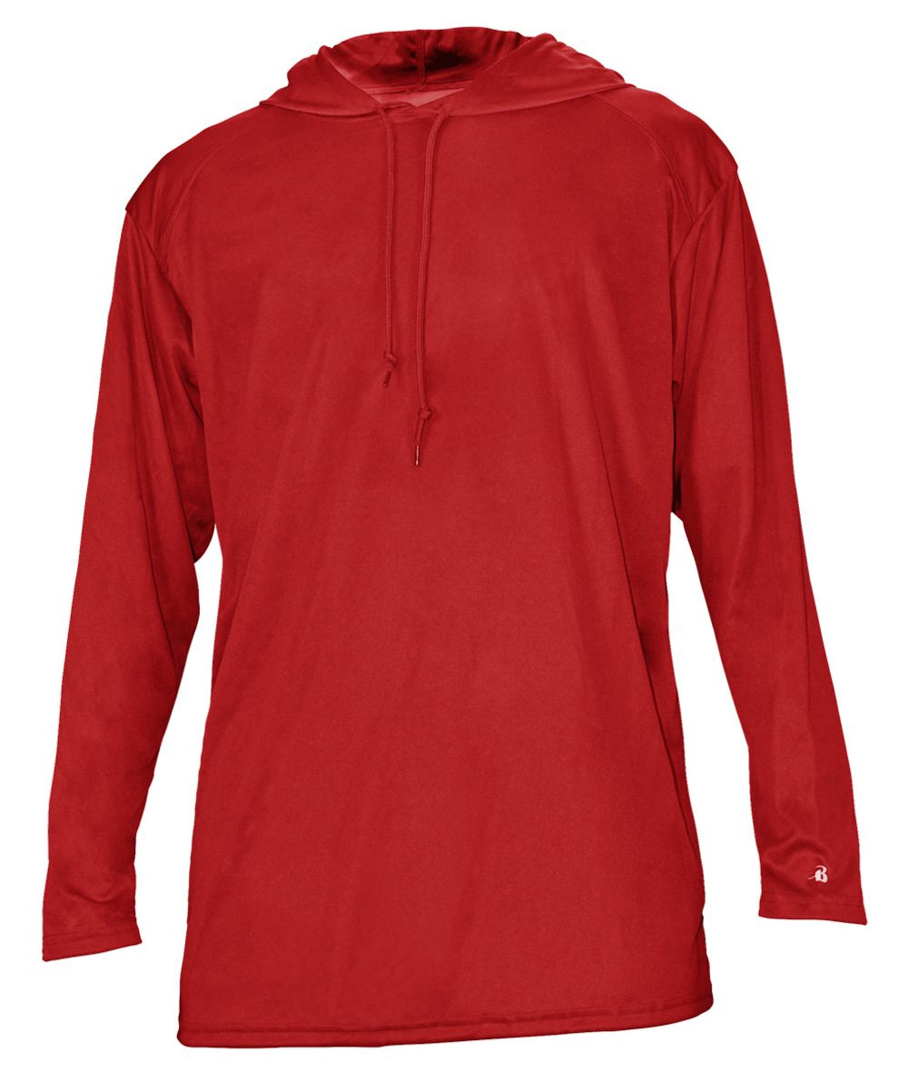 Badger Mens B-Core Long Sleeve Hooded Tee