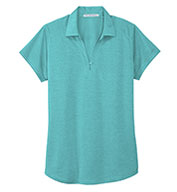 Custom Ladies Digi Heather Performance Polo
