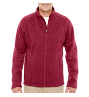 Custom Devon & Jones Mens  Bristol Full-Zip Sweater Fleece Jacket