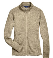 Custom Devon & Jones Ladies Full-Zip Bristol Sweater Fleece Jacket