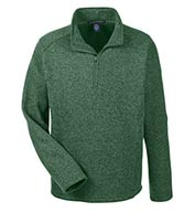 Custom Devon & Jones Mens Bristol Quarter-Zip Sweater Fleece