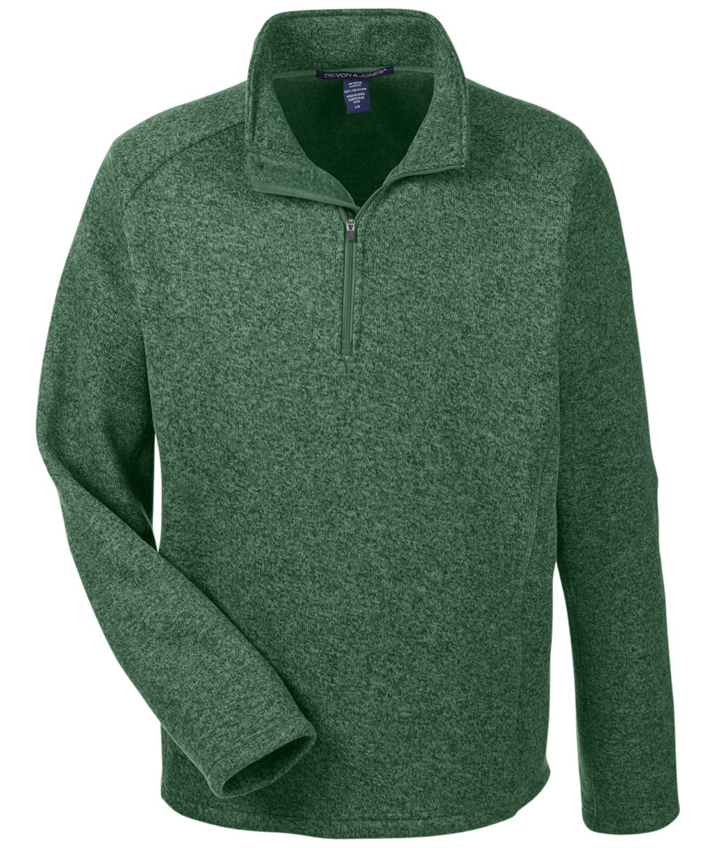 Devon & Jones Mens Bristol Quarter-Zip Sweater Fleece