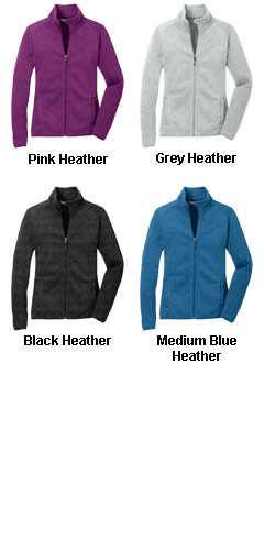 Ladies Sweater Fleece Jacket - All Colors