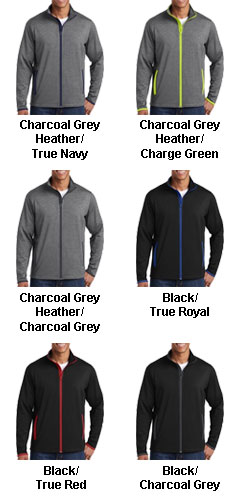 Mens Sport-Tek Stretch Contrast Full-Zip Jacket - All Colors