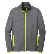 Custom Mens Sport-Tek Stretch Contrast Full-Zip