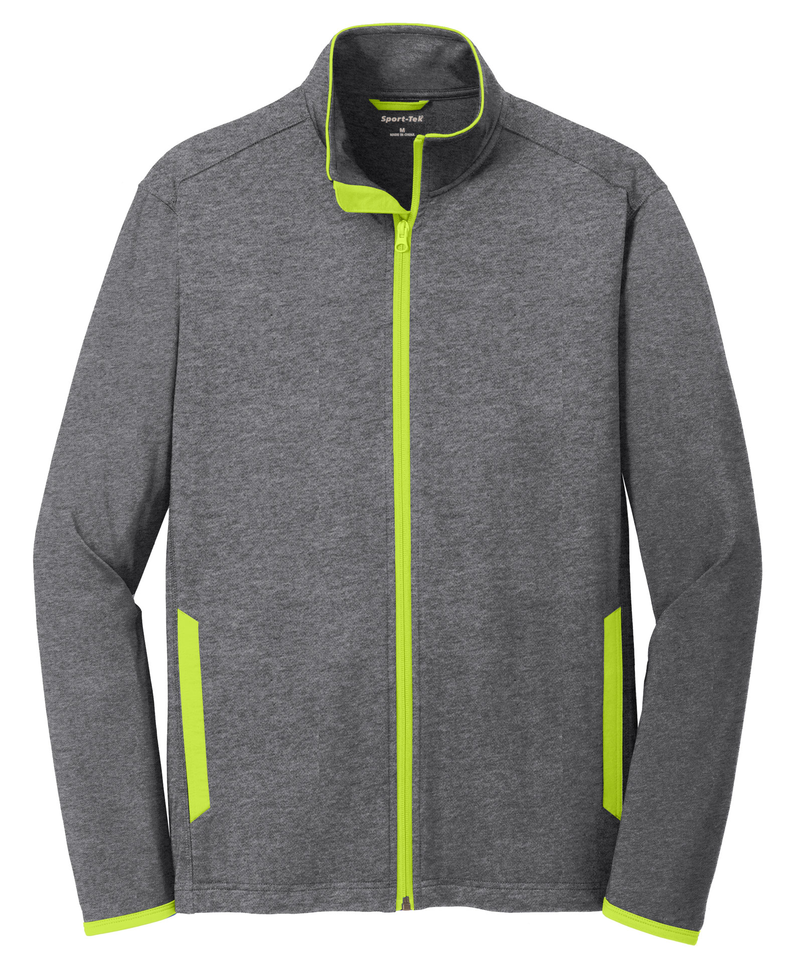 Sport-Tek® Sport-Wick® Mens Stretch Contrast Full-Zip Jacket