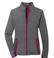 Custom Sport-Tek® Ladies Sport-Wick® Stretch Contrast Full-Zip Jacket