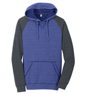 Custom District® Mens Lightweight Fleece Raglan Hoodie