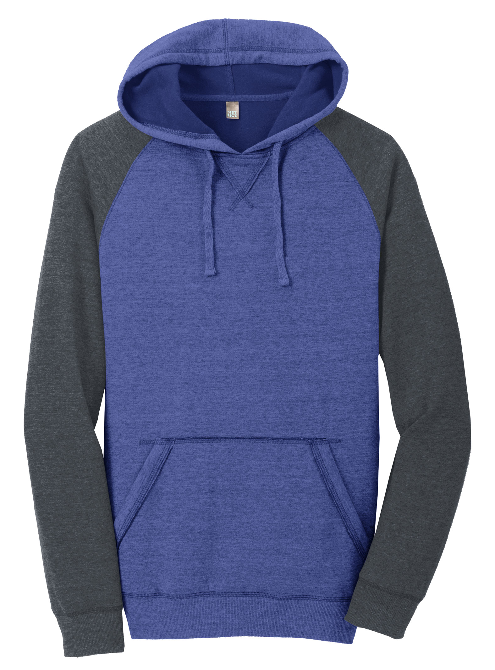 District® Mens Lightweight Fleece Raglan Hoodie