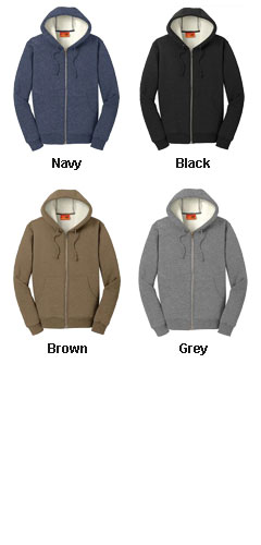 Cornerstone® Heavyweight Sherpa-Lined Hooded Fleece Jacket - All Colors