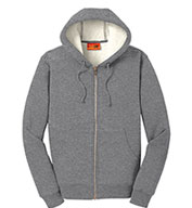 Custom Cornerstone® Mens Heavyweight Sherpa-Lined Hooded Fleece Jacket