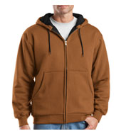 Custom Cornerstone® Mens Heavyweight Full-Zip Hooded Sweatshirt
