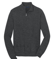 Custom Mens 1/2-Zip Sweater
