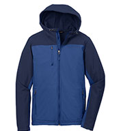 Custom Port Authority Mens Hooded Colorblock Soft Shell Jacket