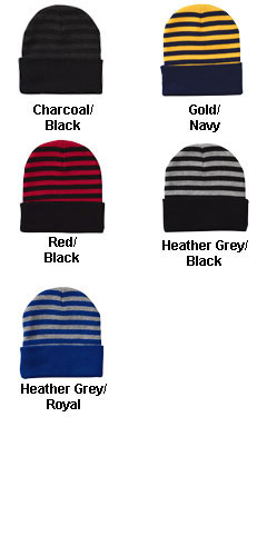 Sportsman Striped Knit Beanie - All Colors