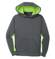 Custom Sport-Tek® Youth Sport-Wick® Fleece Colorblock Hooded Pullover