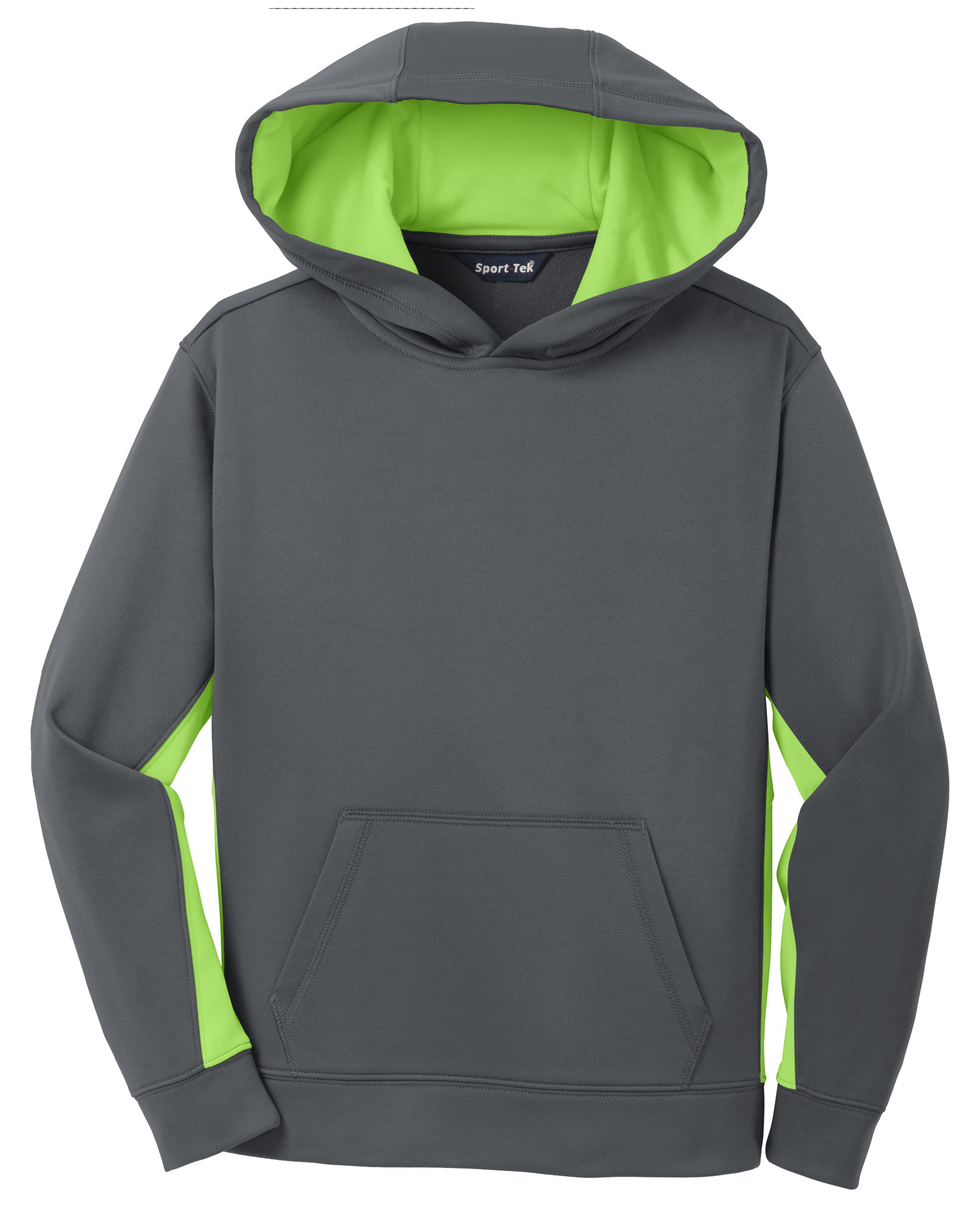 Youth Sport-Wick® Fleece Colorblock Hooded Pullover