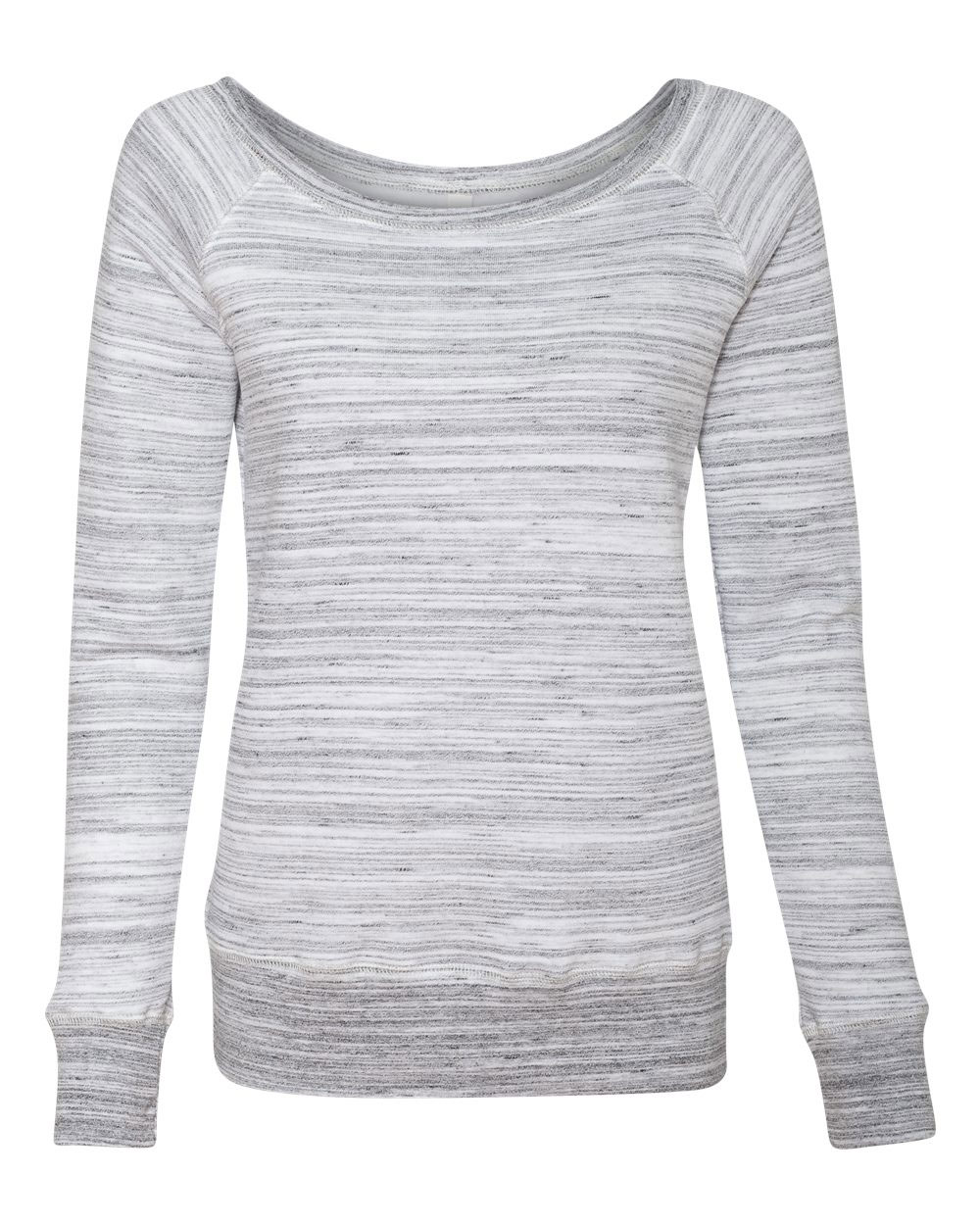 Bella + Canvas Ladies Sponge Fleece Wide Neck  Sweatshirt
