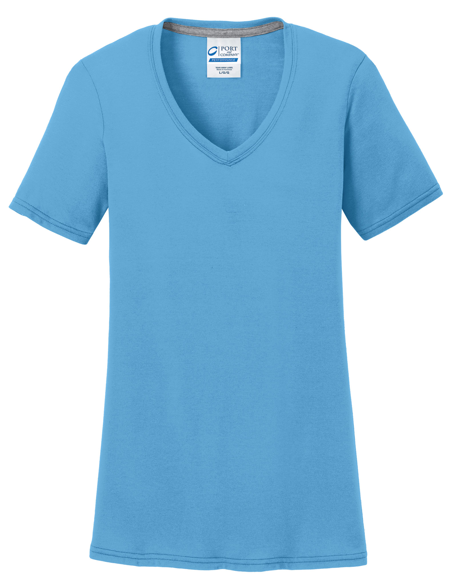 Ladies Essential Blended Performance V-Neck Tee