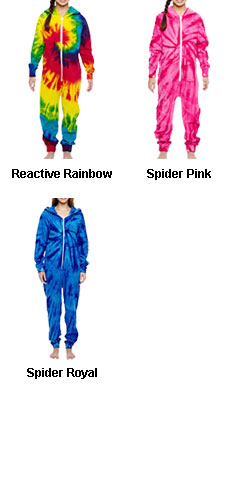 Youth Tie Dye All-in-One Loungewear - All Colors