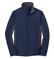 Custom Mens Core Colorblock Soft Shell Jacket