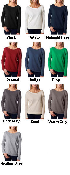Next Level The Terry Long-Sleeve Scoop - All Colors