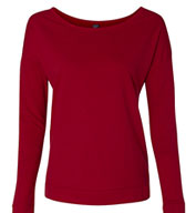 Custom Next Level Ladies French Terry Long-Sleeve Scoop