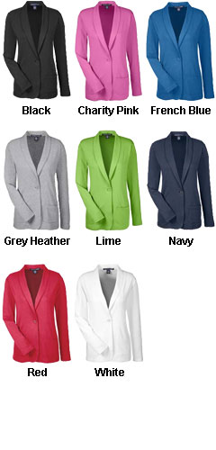 Devon & Jones Ladies Perfect Fit Shawl Collar Cardigan - All Colors