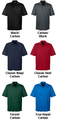 Mens Motive Performance Pique Polo  with Tipped Collar - All Colors