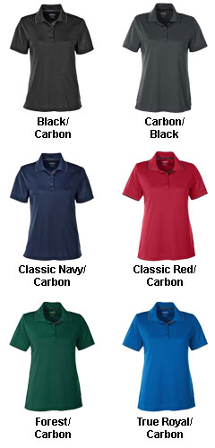 Ladies Motive Performance Pique Polo with Tipped Collar - All Colors